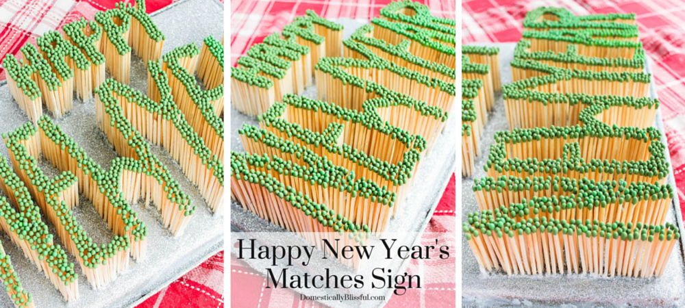 Happy New Year's Matches Sign