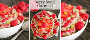 This Berry Swirl Oatmeal is a deliciously bright & beautiful way to begin your day!