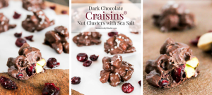 Dark Chocolate Craisins® Nut Clusters with Sea Salt are the perfect guilty pleasure sweet treat that is both healthy & delicious!