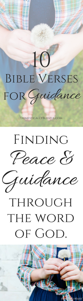 Finding peace & guidance through the word of God