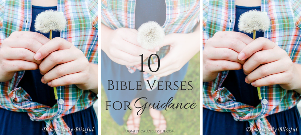 10 Bible Verses for Guidance