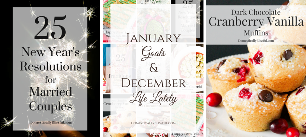 January Goals and December Life Lately