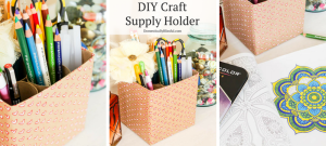Create your own unique Craft Supply Holder by repurposing & recycling items you already have in your home!