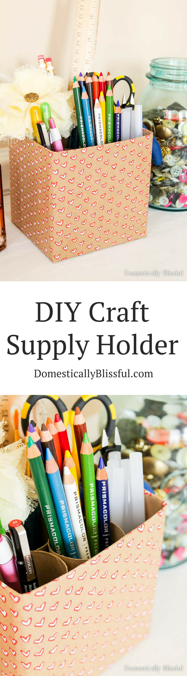 Diy Craft Supply Holder Domestically Blissful