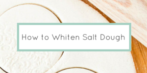 How to Whiten Salt Dough