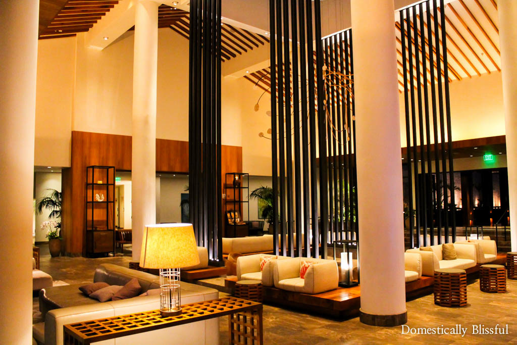 Open and airy hotel lobby at the Andaz Maui at Wailea Resort