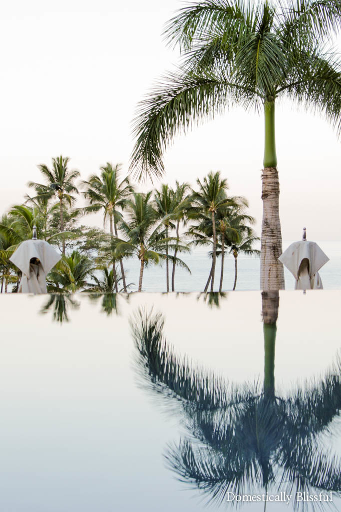 Morning reflection at the Andaz Maui at Wailea Resort