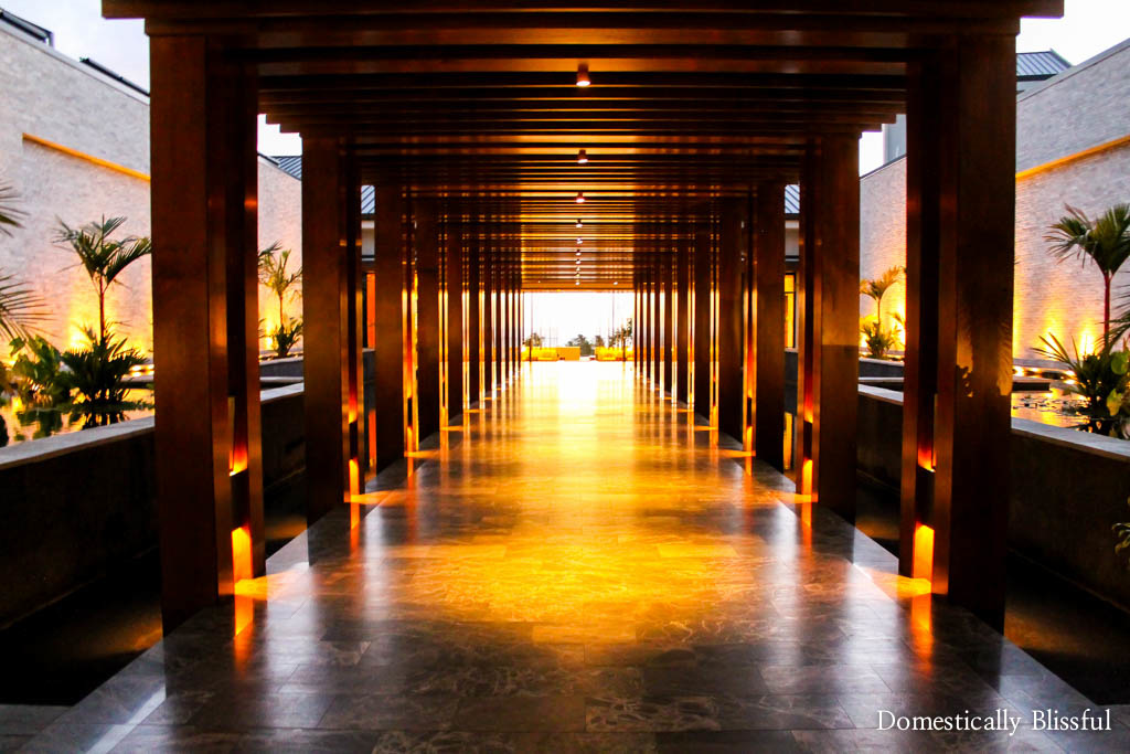 Sunset entrance at the Andaz Maui at Wailea Resort
