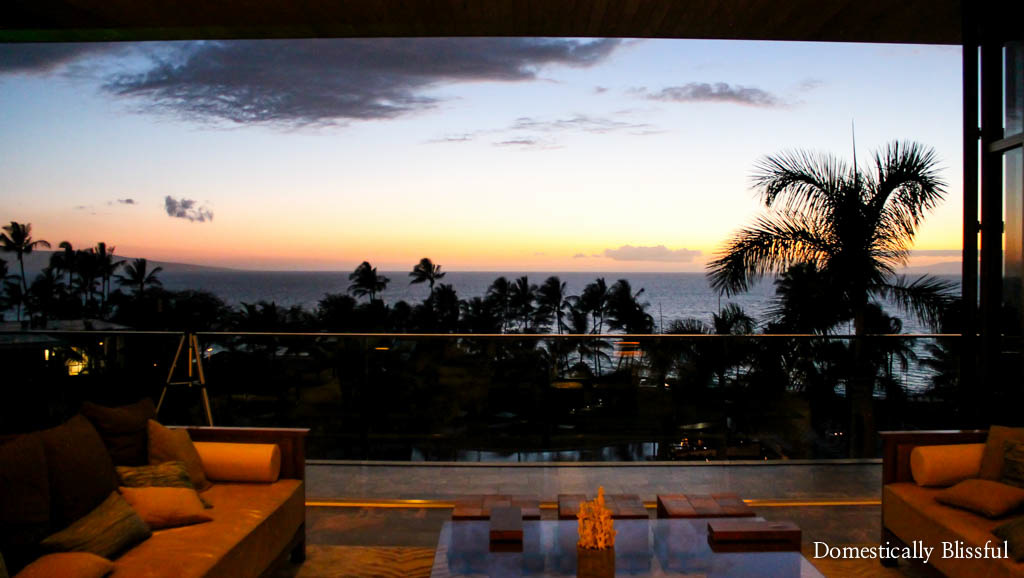 View from the hotel lobby at the Andaz Maui at Wailea Resort