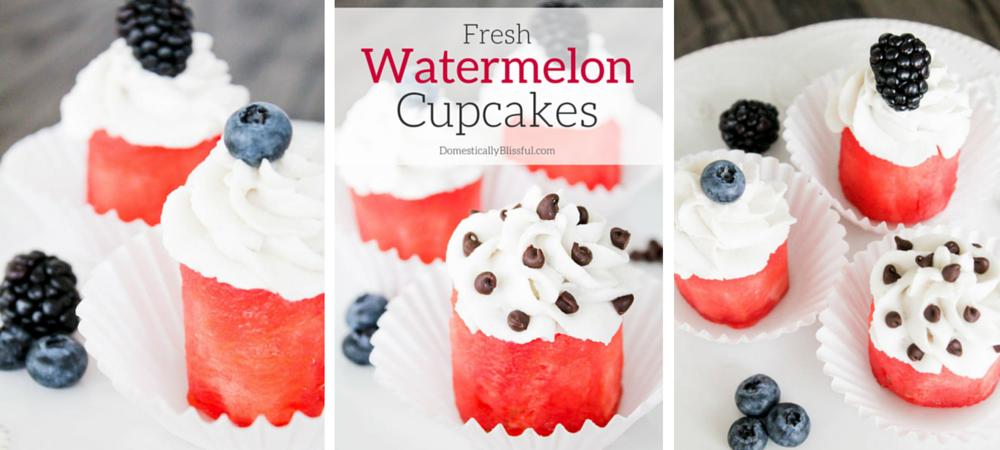 Fresh Watermelon Cupcakes