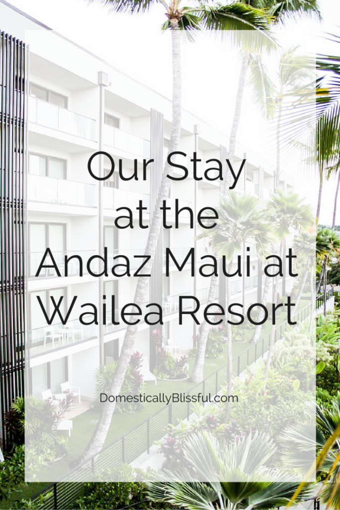 A peak into our stay at the gorgeous Andaz Maui at Wailea Resort in Hawaii.
