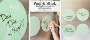 I'm always losing my to-do list! Luckily Fathead has me covered with their Peel and Stick Spring Redecorating and Organization products!