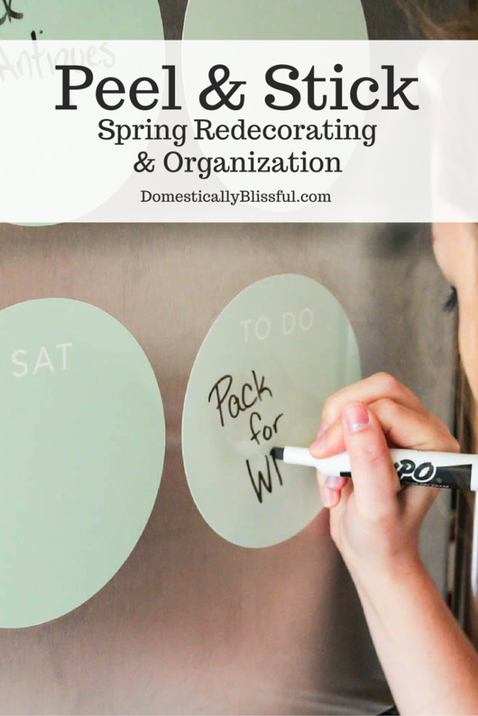 I'm always losing my to-do list! Luckily Fathead has me covered with their Peel and Stick Spring Redecorating and Organizational products!