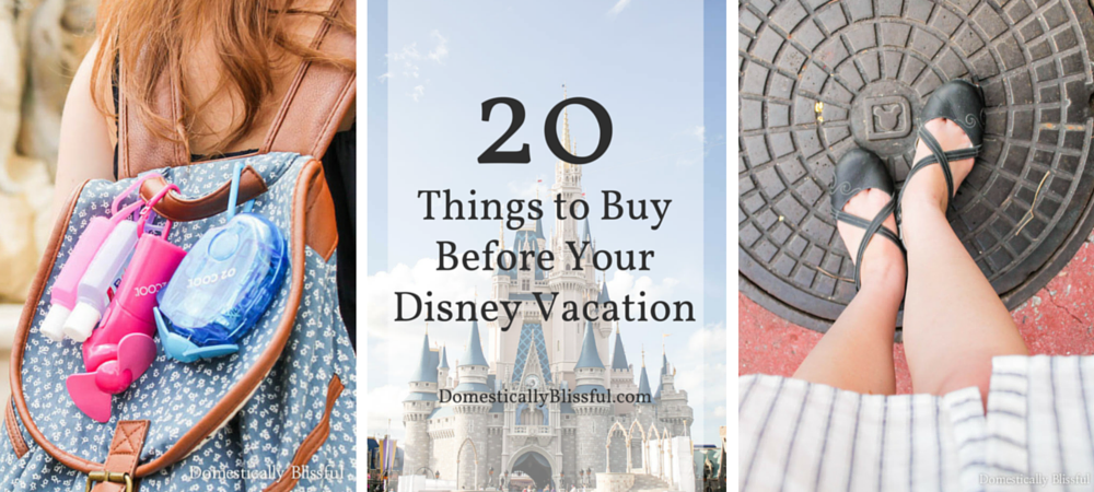 20 Things to Buy Before Your Disney Vacation