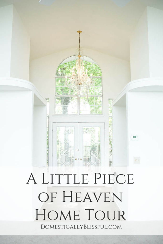 "A home tour of our first house before any renovations or updates, named by the original owner, ""A Little Piece of Heaven."""