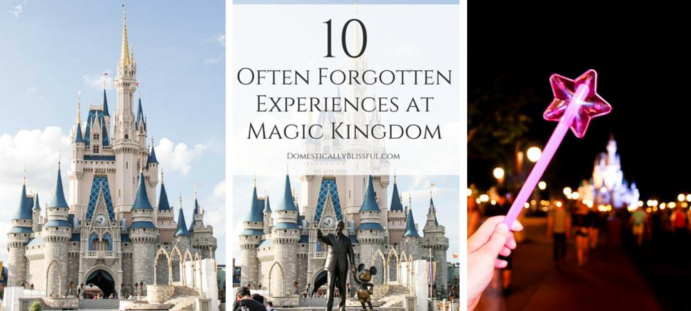 10 Often Forgotten Experiences at Magic Kingdom