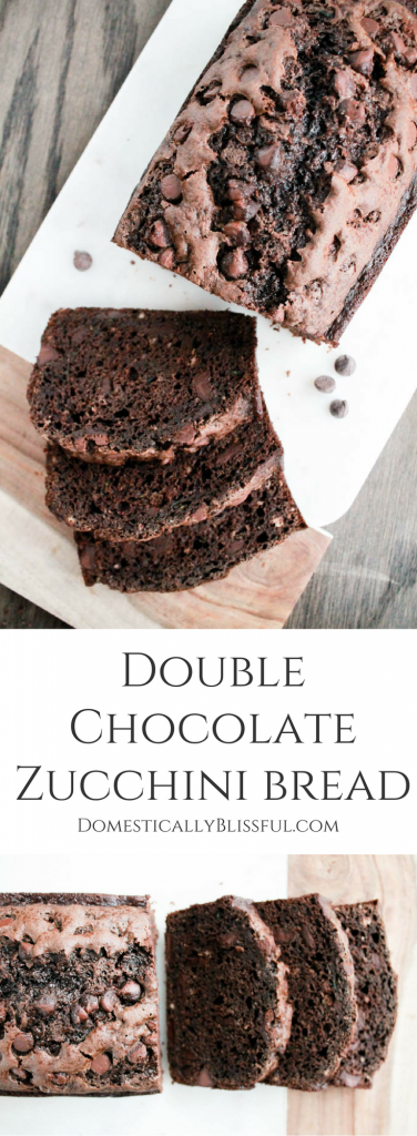 "This Double Chocolate Zucchini Bread is very rich & while it is a chocolate lover's dream come true it is also known as ""death by chocolate zucchini bread!"" You've been deliciously warned!"