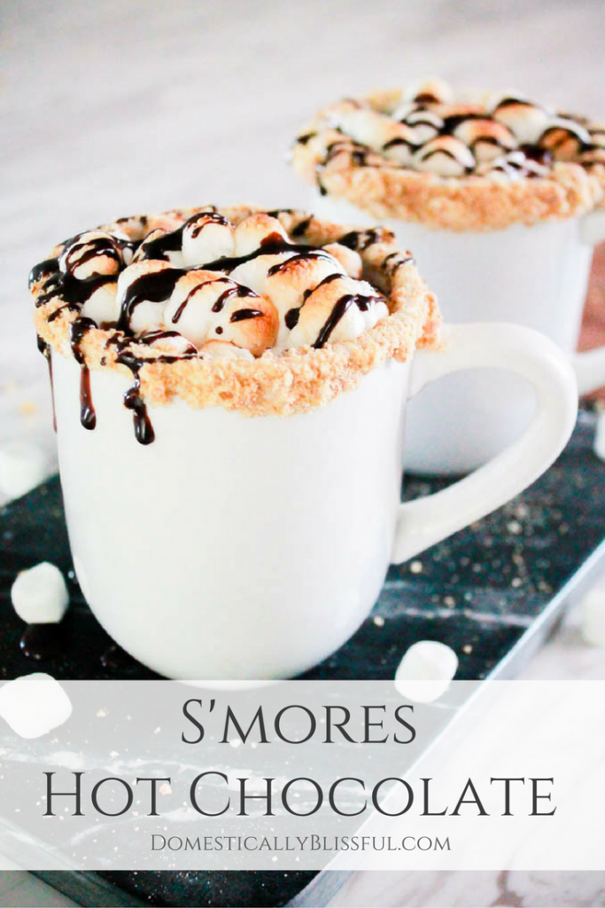 S'mores Hot Chocolate is a cup full of your favorite fall campfire treat that you can enjoy in the comforts of your own home.