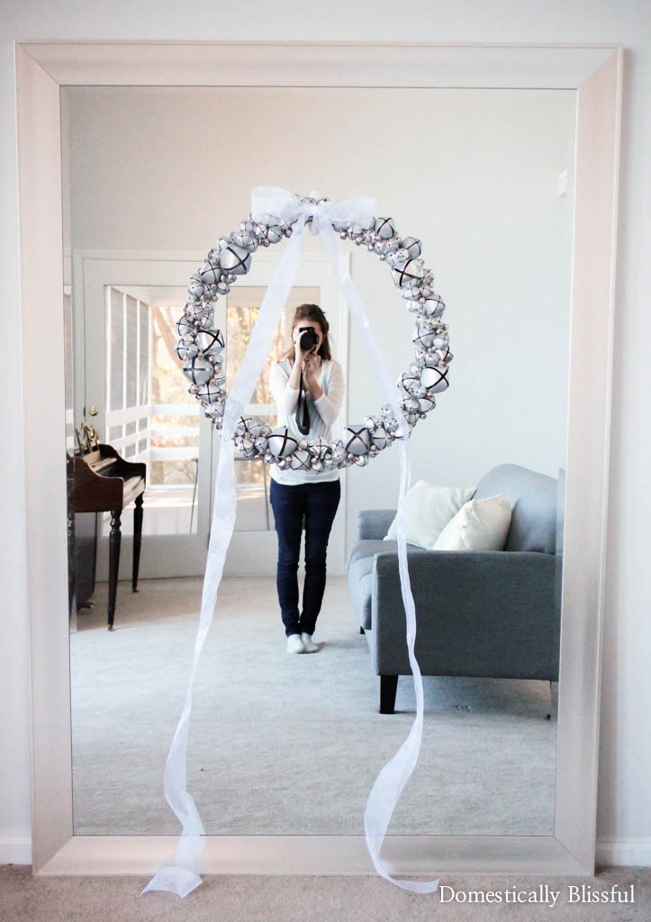 Ring in the holiday season with this DIY Silver Bell Wreath for your home!