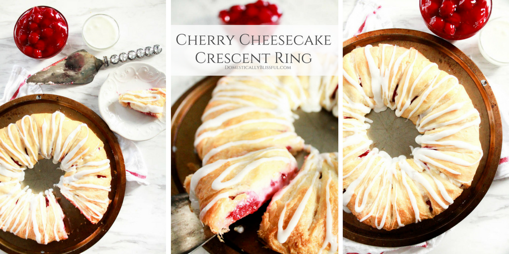 Cherry Cheesecake Crescent Ring