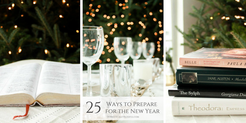 25 Ways to Prepare for the New Year
