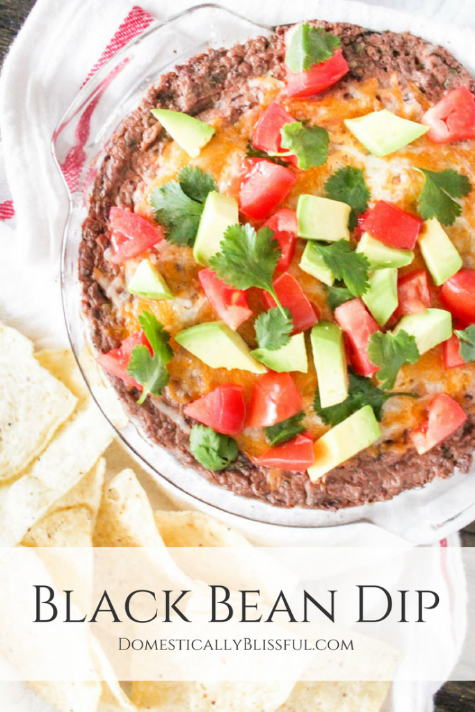 A Black Bean Dip that is creamy, smooth, light, & filled with flavor.