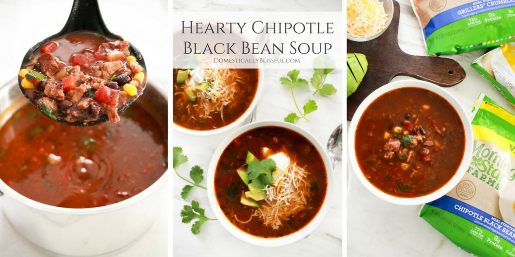Hearty Chipotle Black Bean Soup
