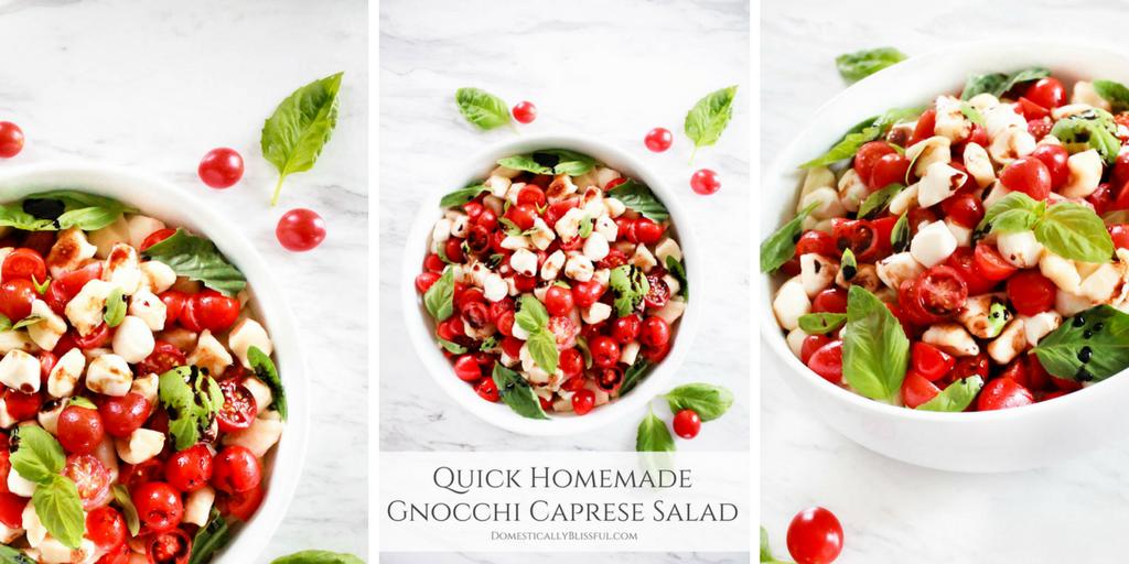 Quick Homemade Gnocchi Caprese Salad