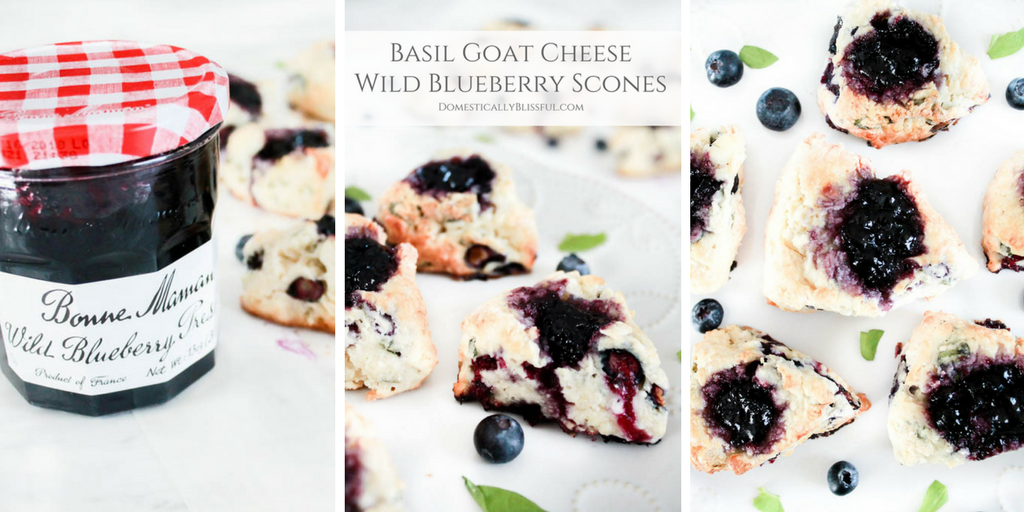 Basil Goat Cheese Wild Blueberry Scones