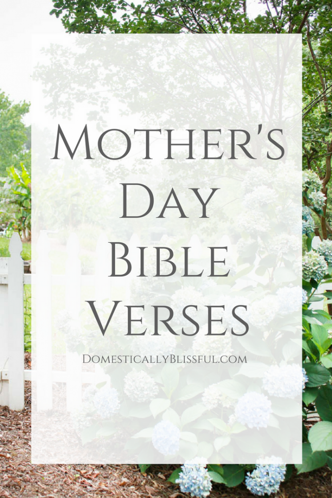 Bible Quotes About Mothers Delectable Bible Verses About Mothers  Domestically Blissful