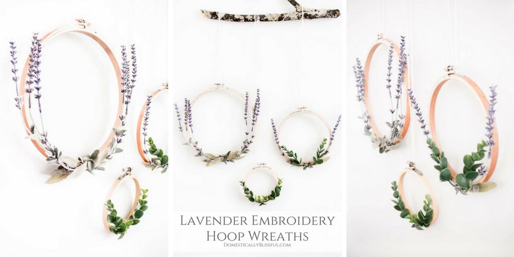 Lavender Embroidery Hoop Wreath