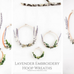 Lavender Embroidery Hoop Wreath