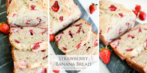Strawberry Banana Bread is a pink twist with fresh sweet flavor on a classic recipe.