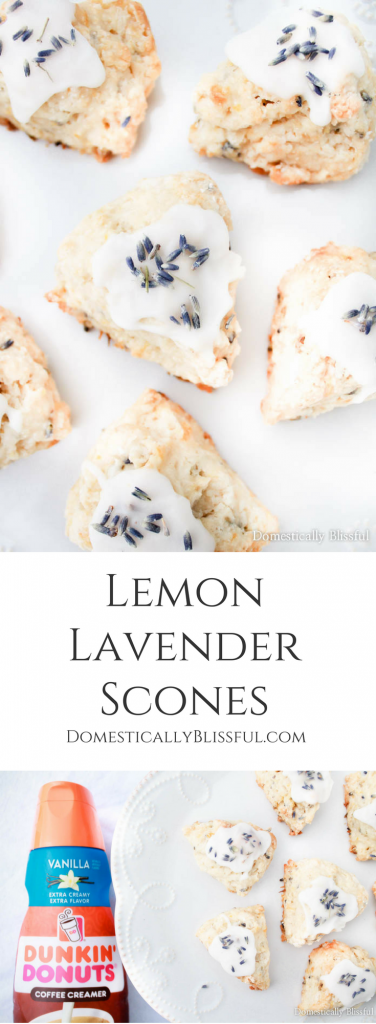 These Lemon Lavender Scones are a sweet little treat that is full of fresh summer & floral flavor for breakfast, brunch, or dessert.