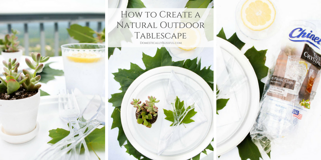 How to Create a Natural Outdoor Summer Tablescape