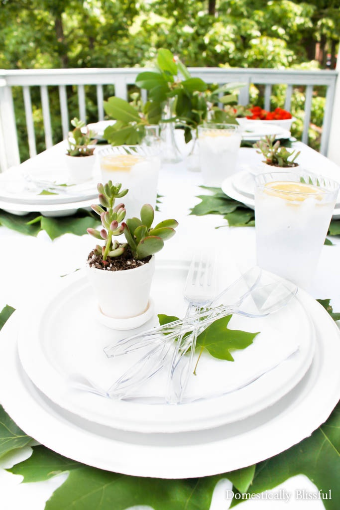 Creating a beautiful summer spread is easy with these 5 simple tips for creating a natural outdoor summer tablescape.
