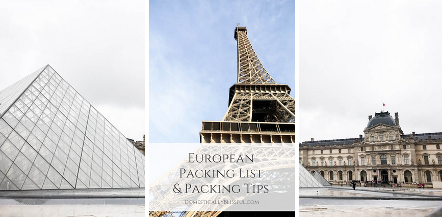 European Packing List and Packing Tips