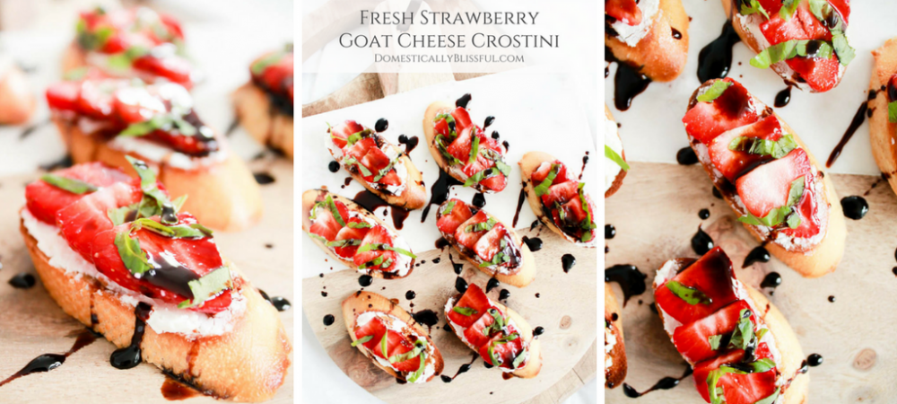 Fresh Strawberry Goat Cheese Crostini