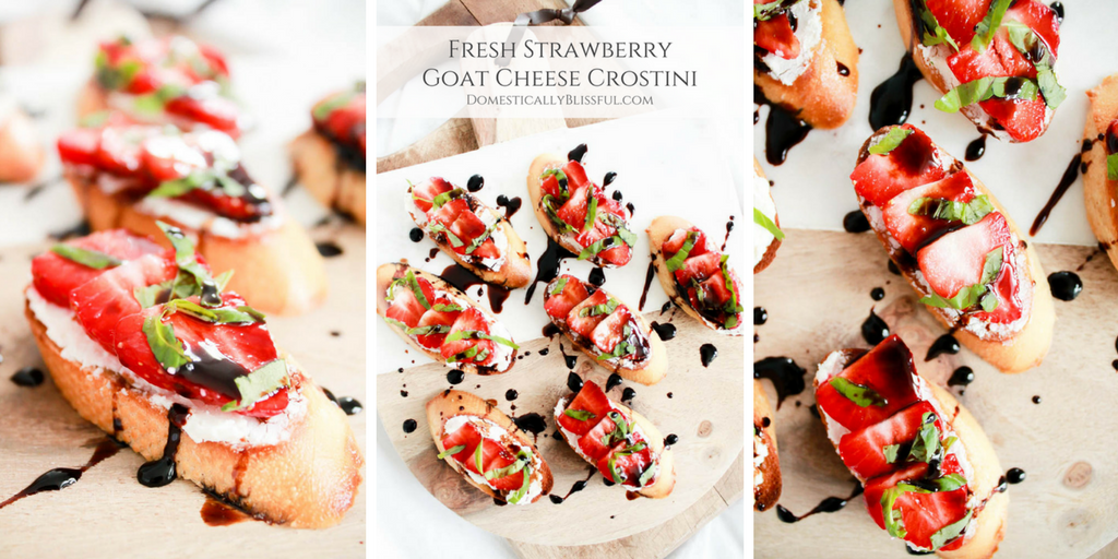 Fresh Strawberry Goat Cheese Crostini