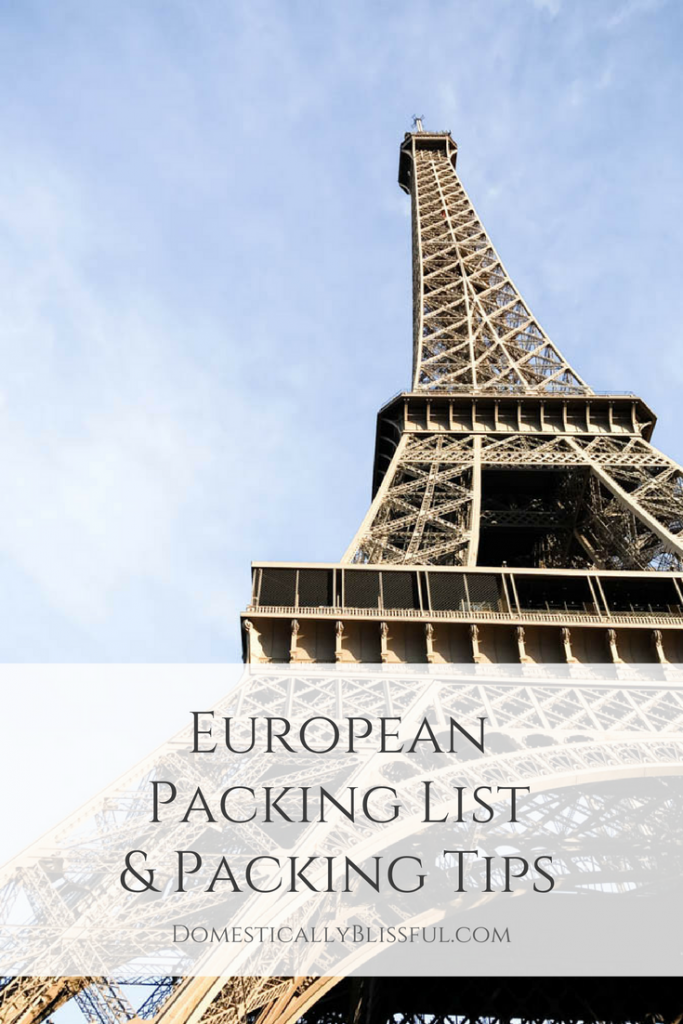 This European Packing List & Packing Tips will help you organize & pack everything you need without overpacking for your European adventure.