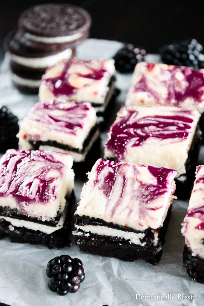 Blackberry Cheesecake OREO Brownies are what dreams are made of especially because they are filled with rich & creamy flavors!