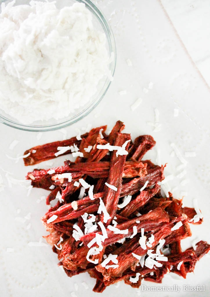 Chewy Watermelon Fries with whipped coconut dip is a surprising summer treat made from leftover watermelon.