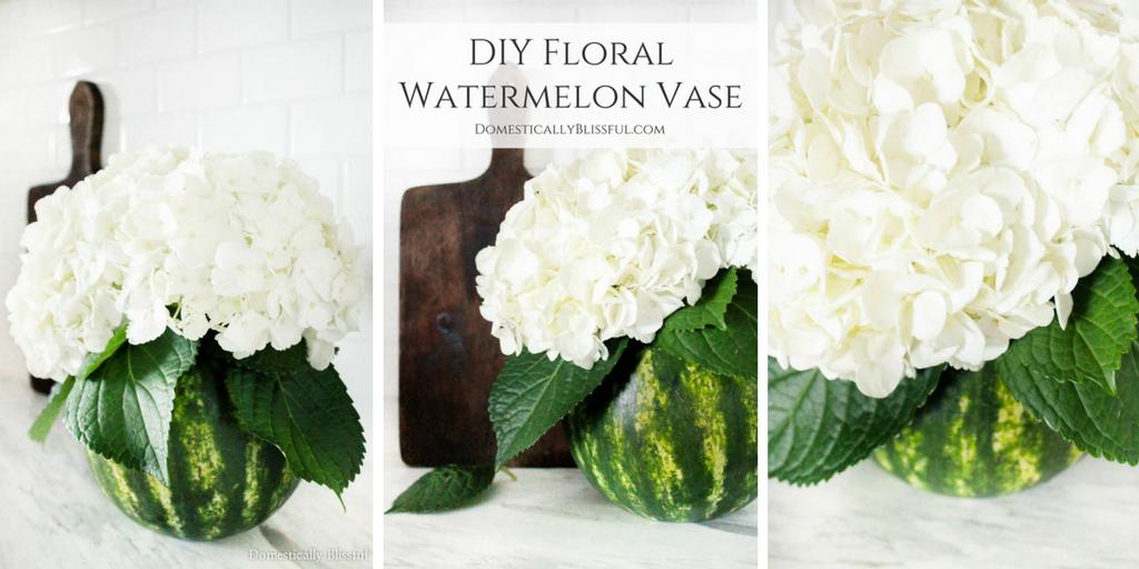 DIY Floral Watermelon Vase