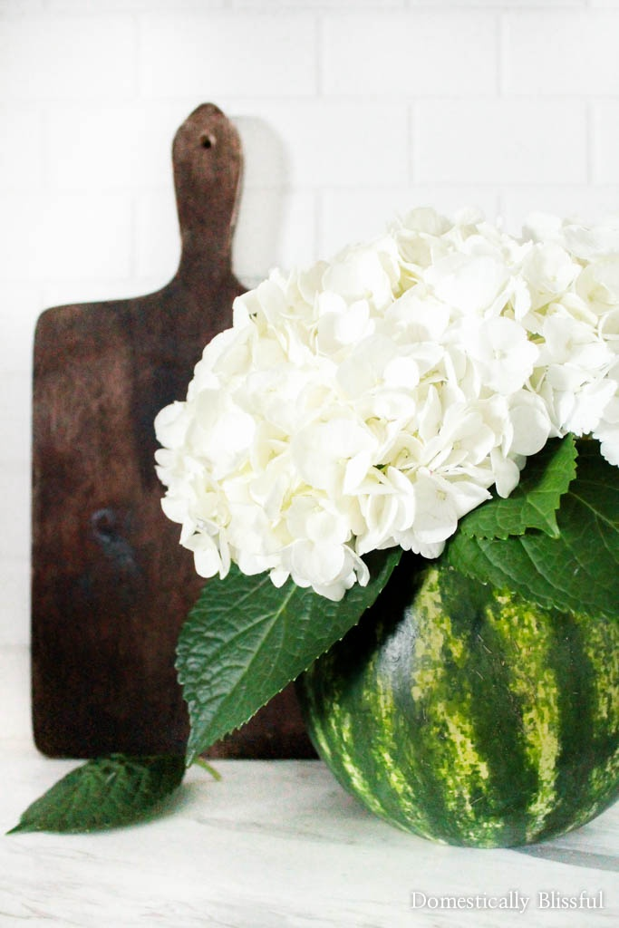 Create your own Floral Watermelon Vase for your home or summer party! Plus unique recipes for leftover watermelon!