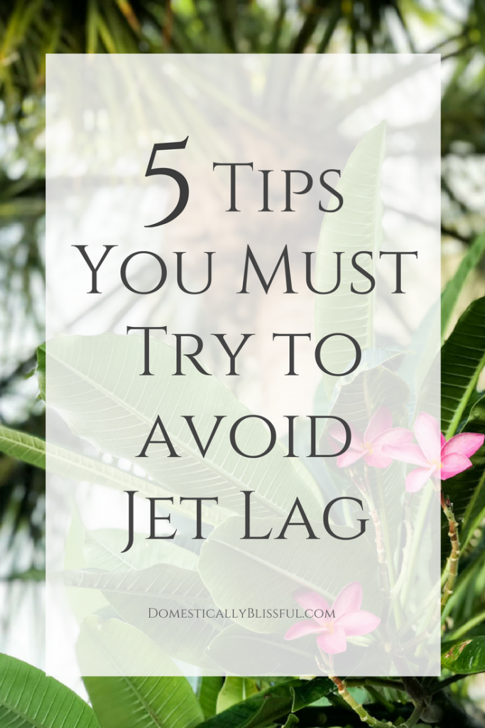 5 tips you must try to help you avoid jet lag on your next trip. These tips will help make your journey & destination even more enjoyable!