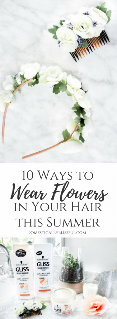 10 fun & beautiful ways to wear flowers in your hair for wherever the summer sun takes you!