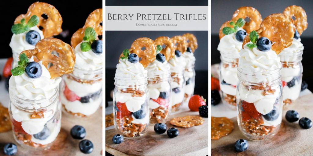Individual Berry Pretzel Trifles