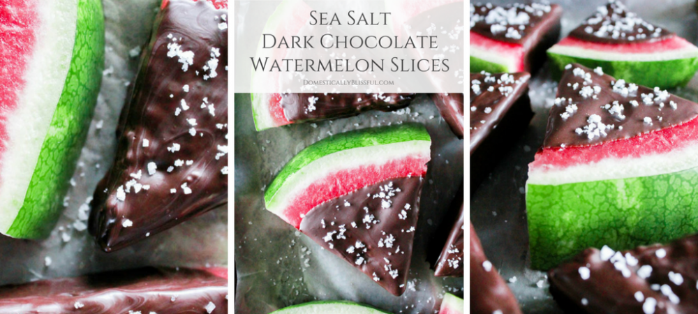Sea Salt Dark Chocolate Watermelon Slices