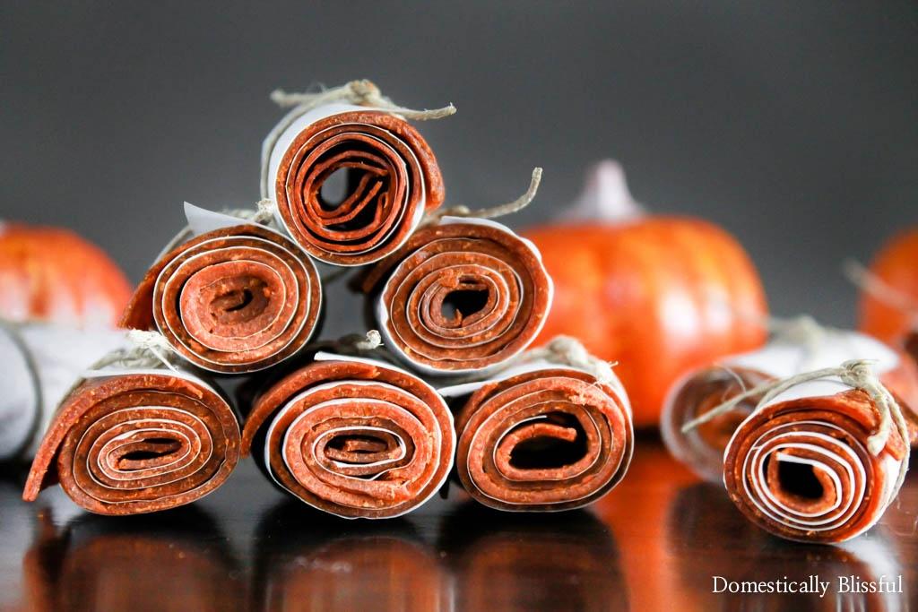 Pumpkin Spice Fruit Leathers