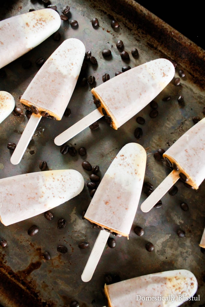 These Pumpkin Spice Latte Popsicles are the perfect sweet treat to transition you from the heat of summer to the festive flavors of fall!